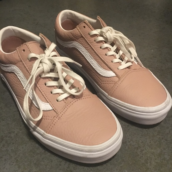 Vans Shoes   Vans Madewell Pink Leather